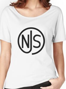NJS stamp (black print) Women's Relaxed Fit T-Shirt