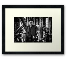 With a Twinkle in his Eye Framed Print