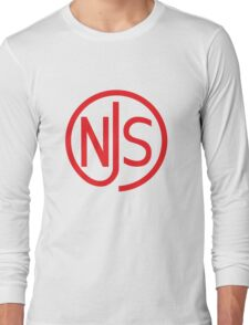 NJS stamp (red print) Long Sleeve T-Shirt