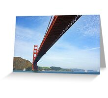 Sailing Under the Golden Gate Bridge in San Francisco Bay California Greeting Card