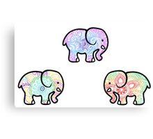 Tie Dye Cute Elephant Pack Canvas Print