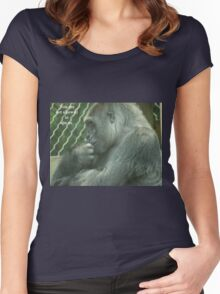 You are not allowed to ape us. Women's Fitted Scoop T-Shirt