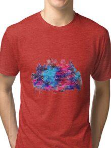 Zen Doodle 1 Magenta (Revised) Tri-blend T-Shirt