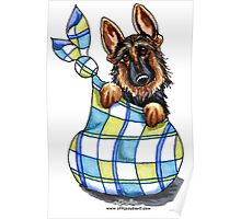 German Shepherd Sack Puppy Poster