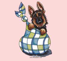 German Shepherd Sack Puppy Baby Tee