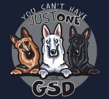 Can't Have Just One German Shepherd Dog Kids Tee