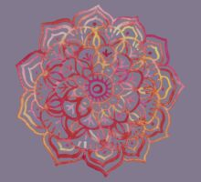 Watercolor Medallion in Sunset Colors Kids Clothes