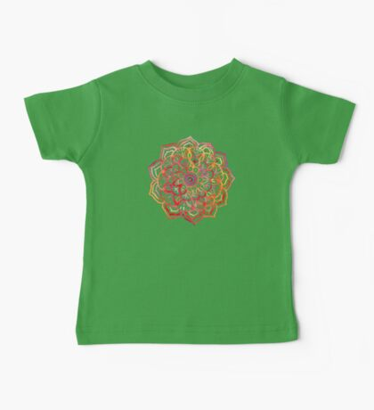 Watercolor Medallion in Sunset Colors Baby Tee