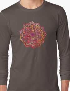 Watercolor Medallion in Sunset Colors Long Sleeve T-Shirt