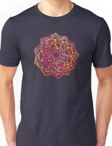 Watercolor Medallion in Sunset Colors Unisex T-Shirt