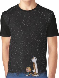 Calvin and Hobbes Stars Graphic T-Shirt