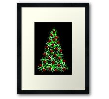 Christmas tree decorated Framed Print