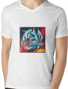 smal blue toon Mens V-Neck T-Shirt