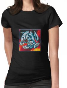smal blue toon Womens Fitted T-Shirt