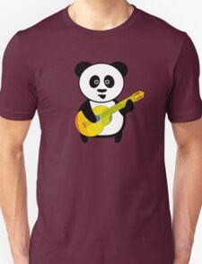 Guitar playing panda Unisex T-Shirt