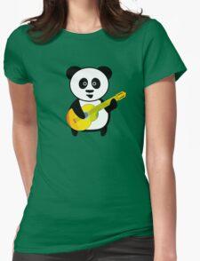 Guitar playing panda Womens Fitted T-Shirt