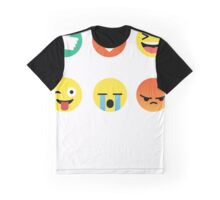 I Love Volleyball Graphic Tee Emoji Emoticon Shirt Graphic T-Shirt