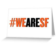 #WEARESF Giants Sticker Greeting Card