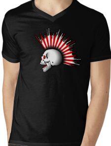 Kamikaze Skull! Mens V-Neck T-Shirt