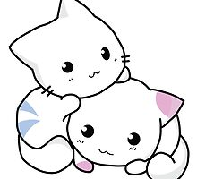 Two Kitties -  Cuteness overload by cartoon