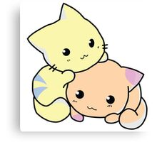 Two Kitties -  Cuteness overload (COLOR) Canvas Print
