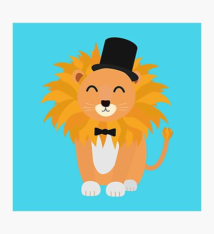 Lion with bow tie  Photographic Print