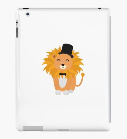 Lion with bow tie  iPad Case/Skin