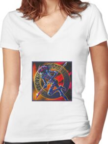chaos ensues Women's Fitted V-Neck T-Shirt