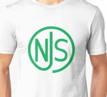 NJS stamp (green print) Unisex T-Shirt