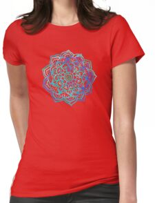 Watercolor Medallion in Ocean Colors Womens Fitted T-Shirt
