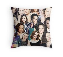daisy ridley collage Throw Pillow