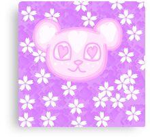 Kawaii Sakura Panda  Canvas Print
