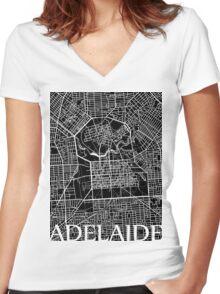 Adelaide (Black) Women's Fitted V-Neck T-Shirt