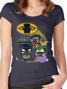 Bat Pug Women's Fitted Scoop T-Shirt