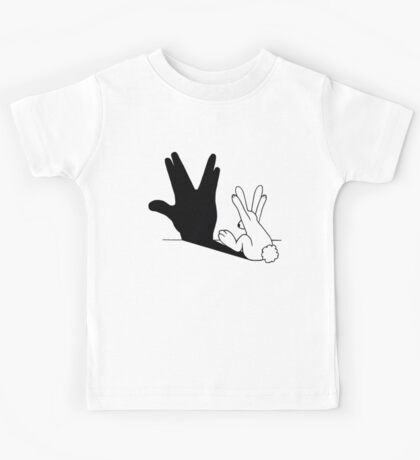 Rabbit Trek Hand Shadow Kids Tee