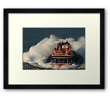 Bembridge Lifeboat Launch Framed Print