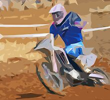 The Moto-cross fawn paint Picasso !  by olao-olavia okaio  by okaio caillaud olivier