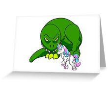 Rex vs Uni Greeting Card