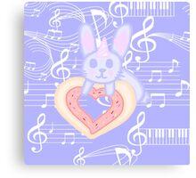 Kawaii Bunny unicorn  Canvas Print