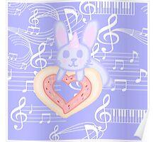Kawaii Bunny unicorn  Poster
