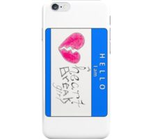 hello i am a heart break girl (vertical) iPhone Case/Skin