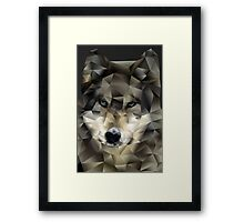 Abstract Wolf Framed Print