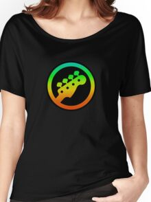 Bass  Guitar Colorful Symbol Women's Relaxed Fit T-Shirt