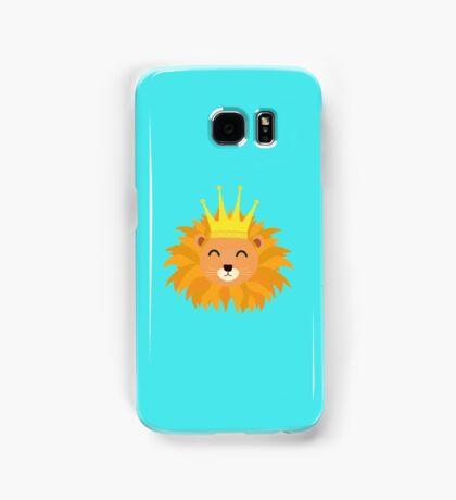 Lion head with crown Samsung Galaxy Case/Skin