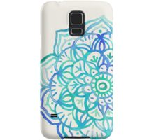 Watercolor Medallion in Ocean Colors Samsung Galaxy Case/Skin