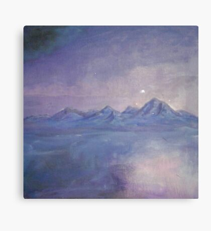 Purple Haze and Floating Mountains in the Sky Canvas Print