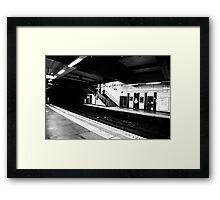 Tube Station Framed Print