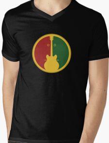 1Guitar 2Players Reggae Mens V-Neck T-Shirt