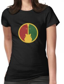 1Guitar 2Players Reggae Womens Fitted T-Shirt