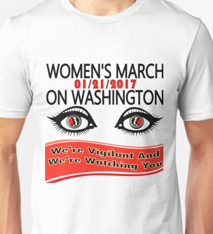 1-21-2017 Women March On Washington, DC Unisex T-Shirt